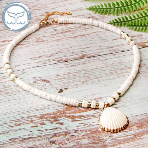 collier coquillage tahiti