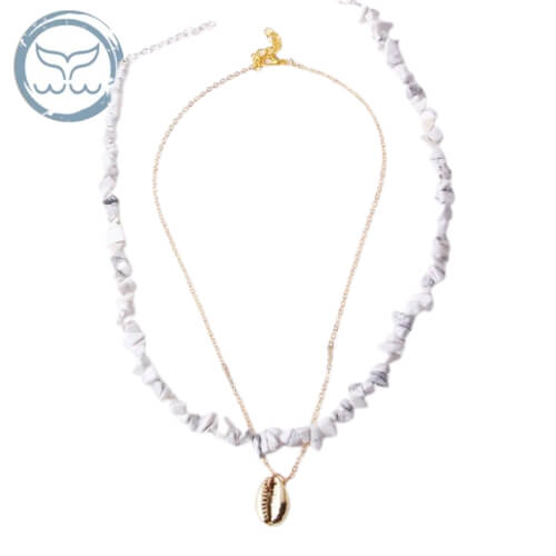 collier surfeuse howlite