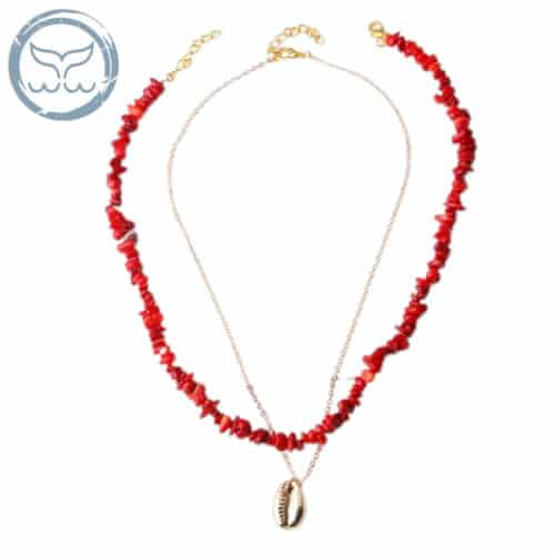 collier surfeuse rouge
